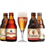 Kit de Cervejas Belgas com Taça St Louis
