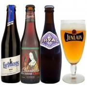 Kit de Cervejas Belgas Mistas com Taça Jenlan