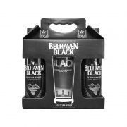 Kit de Cervejas Belhaven Black Scottish Stout com Copo Pint