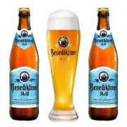 Kit de Cervejas Benediktiner Hell com Copo Gratuito