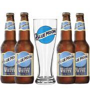 Kit de Cervejas Blue Moon Com Copo