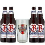Kit de Cervejas Bombardier Com Copo Pint