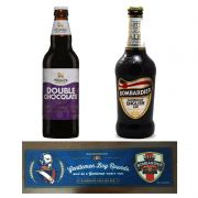 Kit de Cervejas Bombardier e Chocolate Stout com Tapete