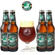 Kit de Cervejas Brooklyn Lager com Taça 330 ml