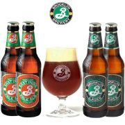 Kit de Cervejas Brooklyn Misto com Taça 330 ml