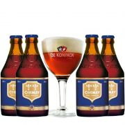 Kit de Cervejas Chimay Blue com Taça De Koninck Gratuita
