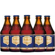 Kit de Cervejas Chimay Blue contendo 5 Rótulos