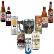 Kit de Cervejas com Caneca Medieval Crânio com Machado