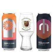 Kit de Cervejas Croma Simple Man e Thunder com Copo Ipa Hallertau 440 ml