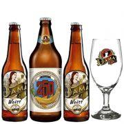 Kit de Cervejas Dama Bier com 3 rótulos com Taça