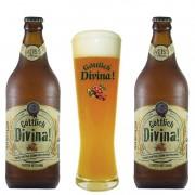 Kit de Cervejas Divina Weiss Com Copo