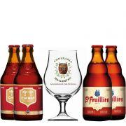 Kit de Cervejas do Estilo Belgian Dubbel com Taça Hallertau 400 ml