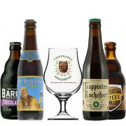 Kit de Cervejas do Estilo Belgian Strong Dark Ale com Taça 400 ml