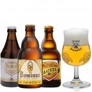 Kit de Cervejas do Estilo Belgian Tripel com Taça Karmeliet