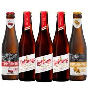 Kit de Cervejas do estilo Fruit Lambic contendo 5 Rótulos