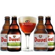 Kit de Cervejas Duvel com Taça De Koninck