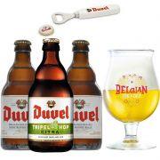 Kit de Cervejas Duvel Misto com Taça Belgian For a Day
