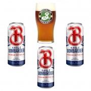 Kit de Cervejas Eagle Bombardier com copo Brooklyn