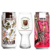 Kit de Cervejas Everbrew Evercream e Guava com Copo Ipa Hallertau 440 ml