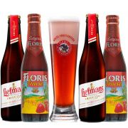 Kit de Cervejas Fruit Beer e Fruit Lambic com Copo Floris
