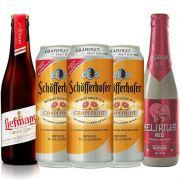 Kit de Cervejas Fruit Beer e Lambic Contendo 5 Rótulos