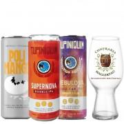 Kit de Cervejas Ipa com Copo da Confraria Hallertau
