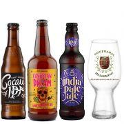 Kit de Cervejas Ipa com Copo Exclusivo da Confraria Hallertau
