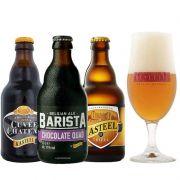Kit de Cervejas Kasteel com 3 Rótulos e Taça De Leite