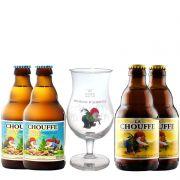 Kit de Cervejas La Chouffe com Taça Gratuita