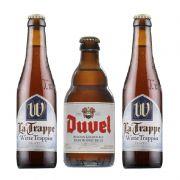 Kit de Cervejas La Trappe Witte e Duvel contendo 3 Rótulos