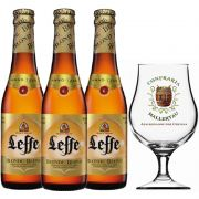 Kit de Cervejas Leffe Blond com Taça Hallertau 400 ml