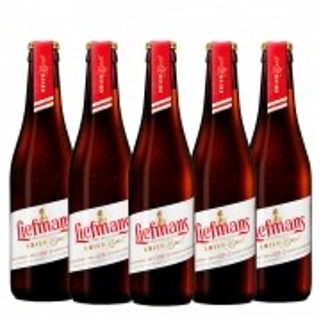Kit de Cervejas Liefmans Kriek Brut contendo 5 Unidades