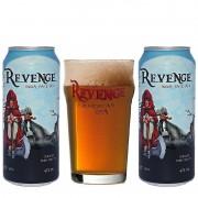 Kit de Cervejas Revenge Ipa em Lata com Copo Pint 450 ml