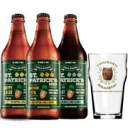 Kit de Cervejas St Patrick's contendo 3 Rótulos com Copo Pint Hallertau