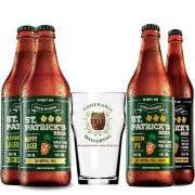 Kit de Cervejas St Patrick's Contendo 4 Rótulos e Copo