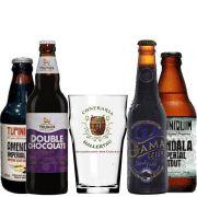 Kit de Cervejas Stout com Copo Exclusivo da Confraria Hallertau