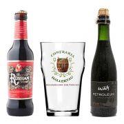 Kit de Cervejas Stout contendo 2 Rótulos e Copo Hallertau