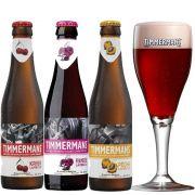 Kit de Cervejas Timmermans Com 3 Rótulos e Taça