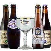 Kit de Cervejas Trapistas com Taça La Trappe