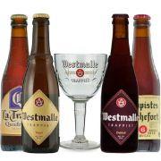 Kit de Cervejas Trapistas com Taça Westmalle