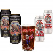 Kit de Cervejas Trooper com 4 Latas e Copo Pint