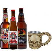 Kit de Cervejas Trooper Com Caneca Medieval Cranio