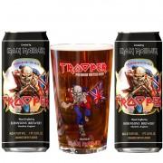 Kit de Cervejas Trooper em Lata com Copo Pint