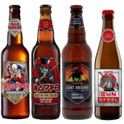 Kit de Cervejas Trooper Iron Maiden com 4 Rotulos