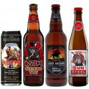 Kit de Cervejas Trooper Iron Maiden com 4 Unidades