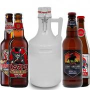 Kit de Cervejas Trooper Iron Maiden com Growler Branco