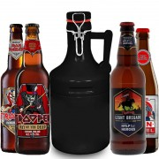 Kit de Cervejas Trooper Iron Maiden com Growler Preto