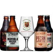 Kit de Cervejas Tupiniquim Barley Wine e Stout com Taça Hallertau