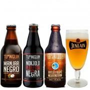 Kit de Cervejas Tupiniquim com 3 Rótulos e Taça Jenlan