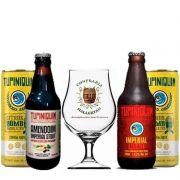 Kit de Cervejas Tupiniquim com 4 Cervejas e Taça Hallertau
